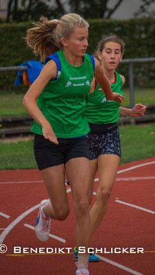 Magdalena Malich beim Staffellauf