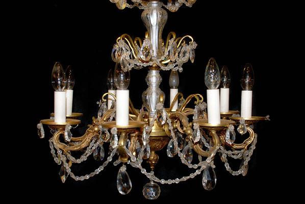 Luminaire en bronze et cristal fabrication artisanale Lumibronze