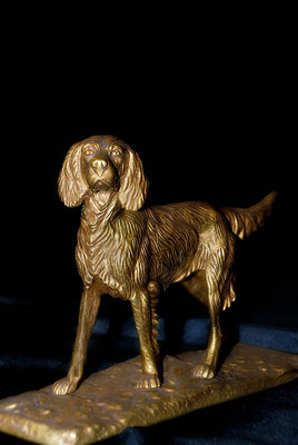 Chien en bronze d'art fabrication artisanale Lumibronze