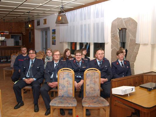 11 von 14 Gutendorfer Kameraden waren anwesend.