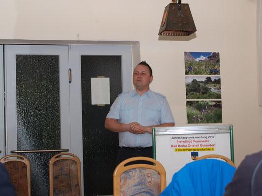 Grußworte kamen vom Wehrführer der Feuerwehr Bad Berka Holm Rotter.
