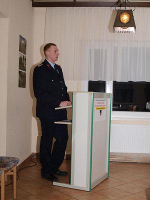 Gutendorfs Wehrführer begrüßte alle Anwesenden und berichtete über alles erreichte der letzten Jahre sowie ausführlich über das Jahr 2016.