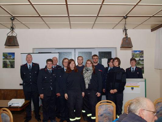 Gruppenfoto der Feuerwehr Gutendorf.