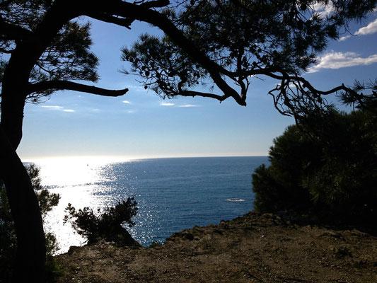 Vue depuis le sentier du littoral du Mont Salva