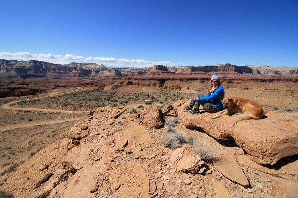 Blick zurück in den Reds Canyon