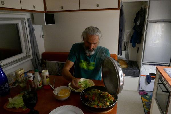 ...und am Abend gibts Burritos, hmmm!