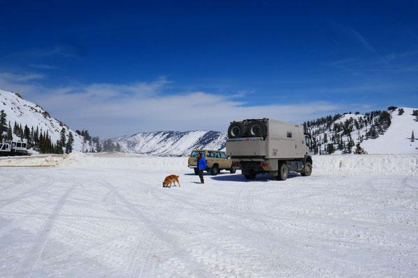 Parkplatz Powder Mountain auf 2500m