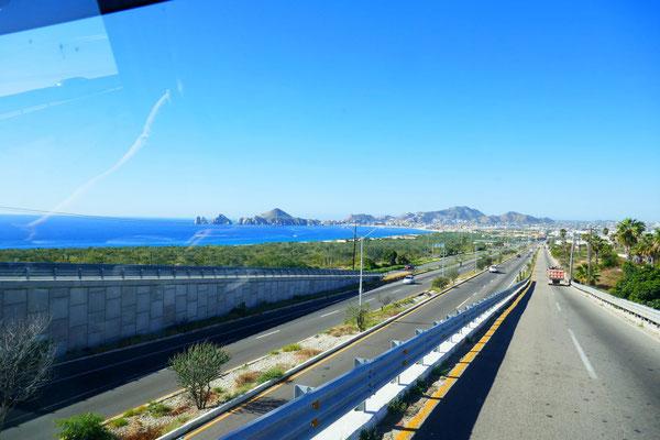 kurz vor Cabo San Lucas, südlicher gehts auf der Baja nimmer