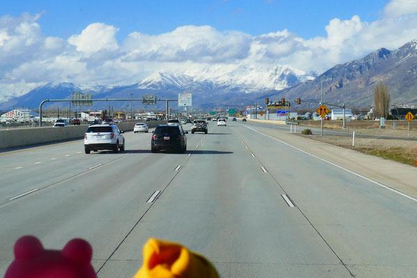 kurz vor Salt Lake City