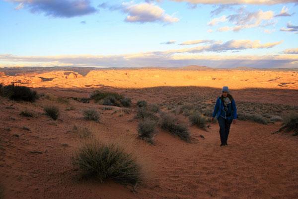 die 3km im Sand zurück sind anstrengend, vor allem auf fast 2000m Höhe!