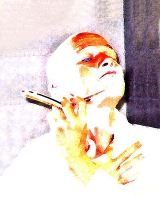 Rasur, 60x70cm, Digitalbild
