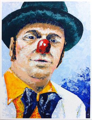 ClownDoctor, 60x80cm, Acryl auf Leinwand, gespachtelt