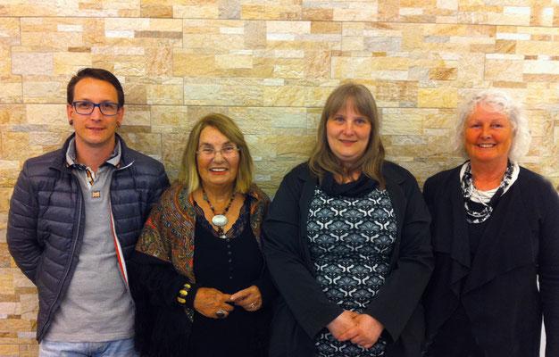 v.l.n.r. Wolfgang Eder, Herlinde Schuster-Pollak, Monika Resl, Roswitha Foch