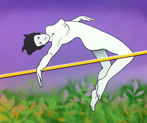 Nacktsprung, 140x100cm, Acryl auf Leinwand