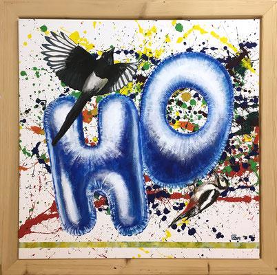 HO für Hoffnung/Hope, 100x100cm, Acryl auf Leinen