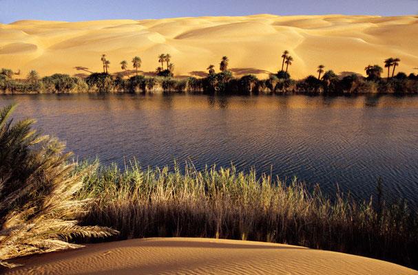 Mandara-See in der libyschen Wüste | Foto © Lutz Jäkel
