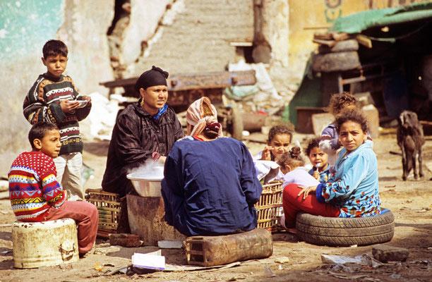 Einfaches Essen in Kairo | Foto © Lutz Jäkel
