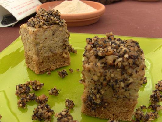 dessert à la semoule de millet (sur la photo souffrant sous le soleil)