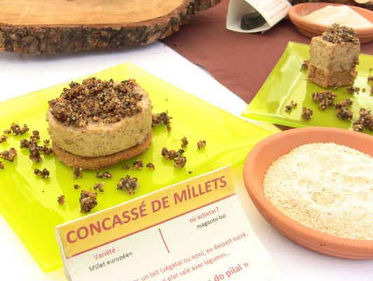 dessert à la semoule de millet (sous la photo souffrant sous le soleil)