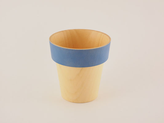 "seme wooden glass ""Obi"" blue"