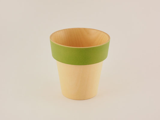 "seme wooden glass ""Obi"" green"