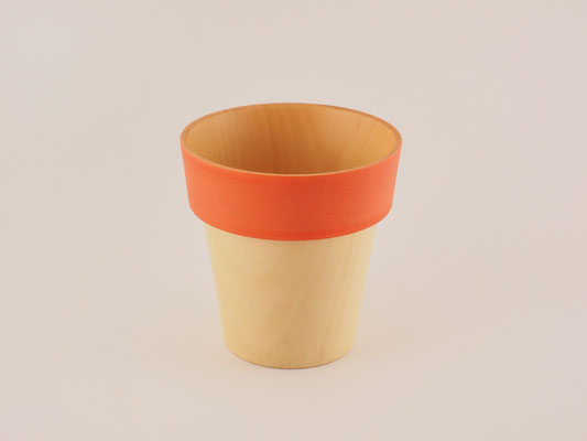 "seme wooden glass ""Obi"" red"
