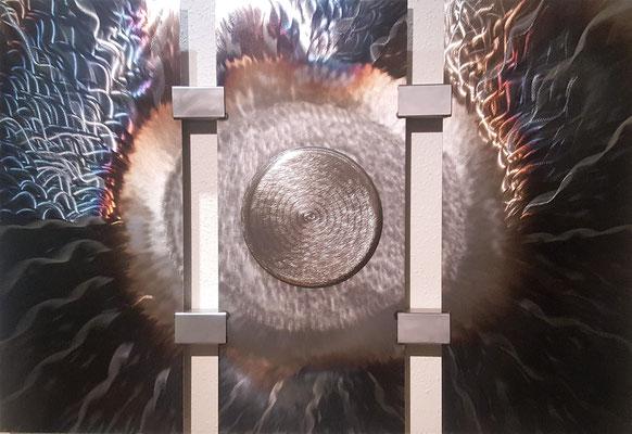 """Metallbild """"Iris"""""""