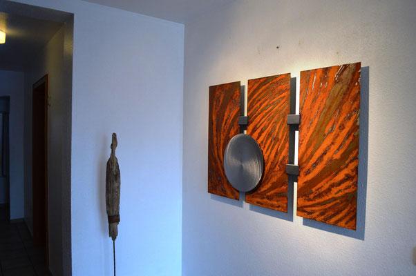 Ausgefallene wandbilder stahlkunst abstrakte kunst aus stahl moderne wandbilder aus metall - Ausgefallene wandbilder ...