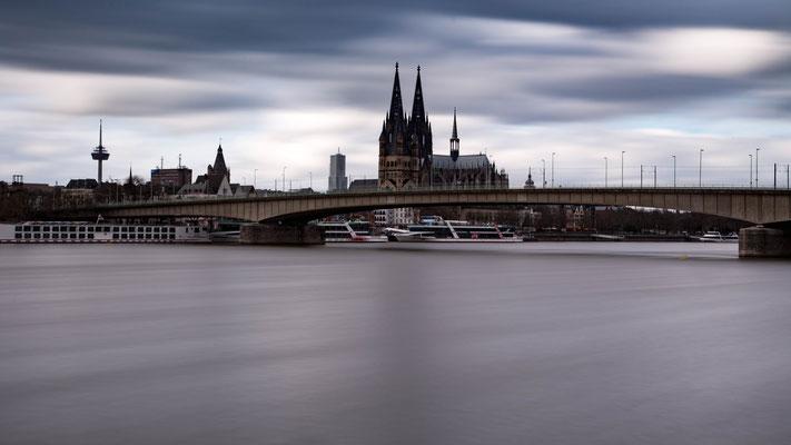 Deutzer Brücke und Dom, Köln
