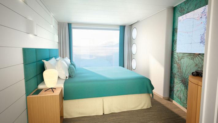 Junior Suite(Schlafbereich, ca. 42 m², inkl. privaten Balkons (ca. 6 m²)