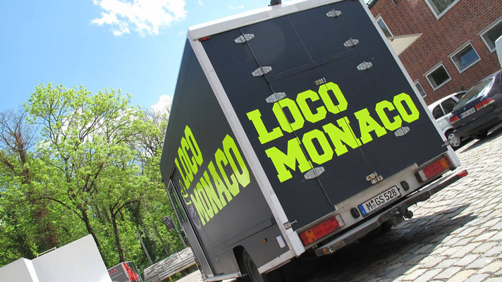"Food Truck ""Loco Monaco"" Komplettfolierung & Branding"