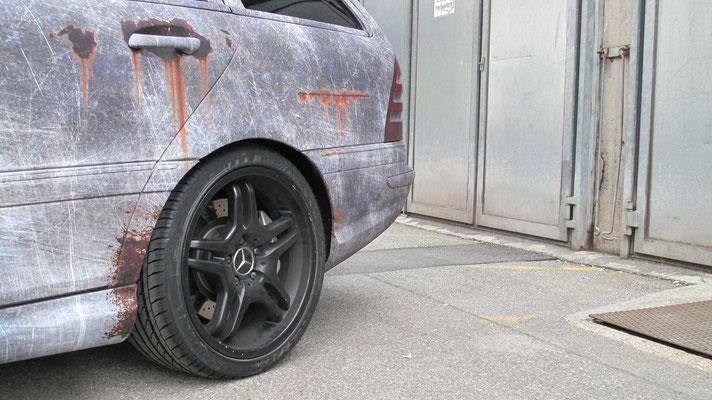 Mercedes Benz C55 AMG Komplettfolierung Digitaldruck inkl. Designerstellung