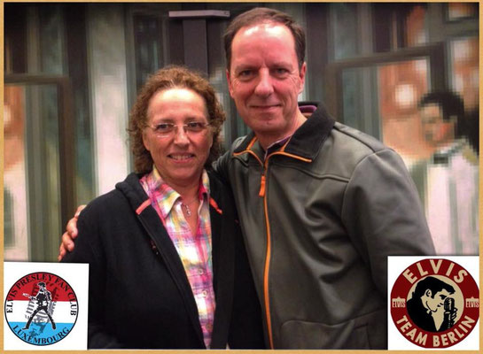 With Francine Dumong (Elvis Presley Fanclub Luxembourg)