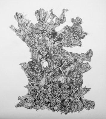 150x175cm, Graphit, 2014