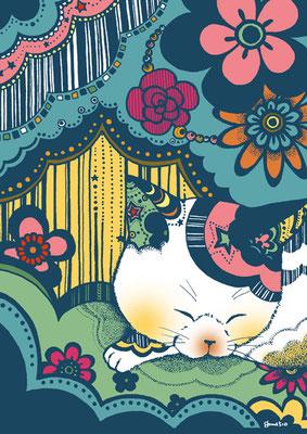 花猫/ねる猫