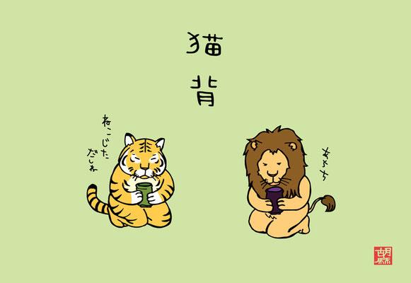 猫背/円山動物園ポストカード展園長賞受賞