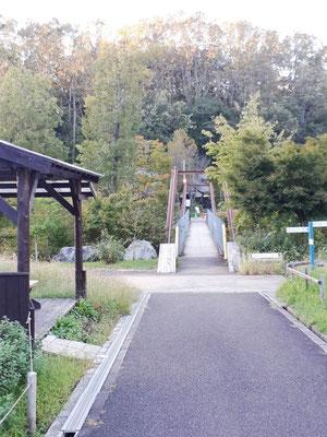 なんと、小さな吊橋もあります。お子様たちがきゃーきゃー言って走り抜けてゆきました。