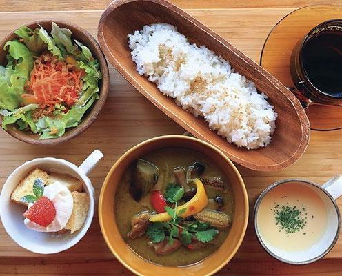 本場の味をベースに、日本人が食べやすいように仕上げたカレー/タイ・グリーンカレーライス1,380円(税込)