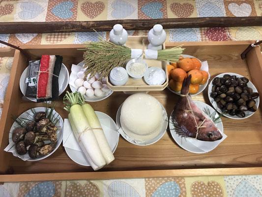例祭に当家が準備する神饌