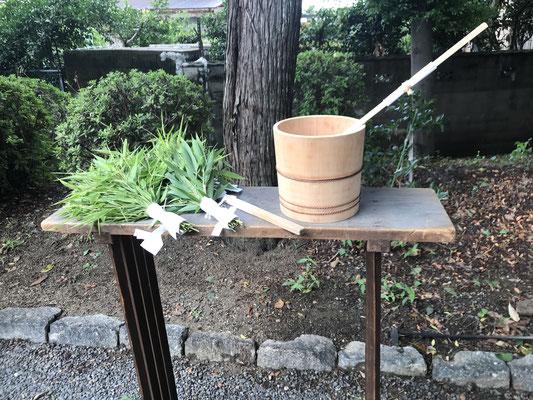 笹と桶・柄杓
