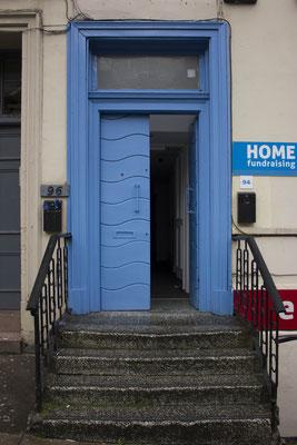Puerta en Edimburgo. Escocia.