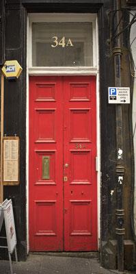 Puerta en Glasgow. Escocia.