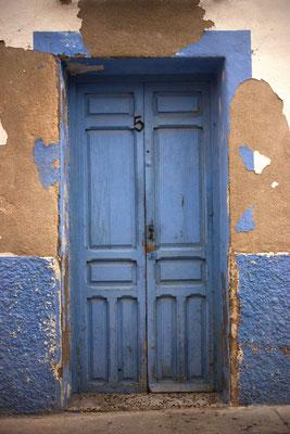 Puerta en la Isla de Tabarca. Alicante.