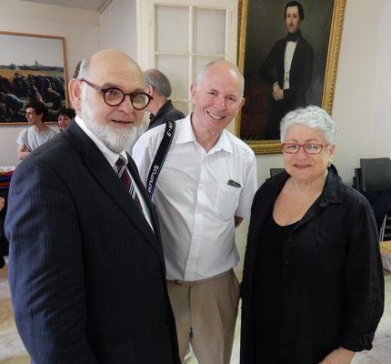 Robert Hue, Jean-François Dupâquier et Paule Gecils