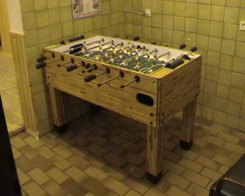 Kikker Tisch in unserem Vereinshaus
