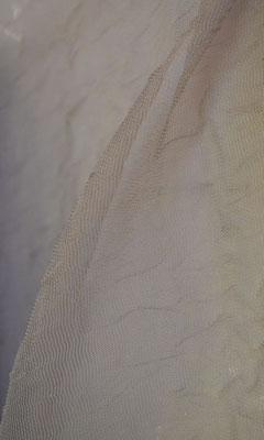 артикул Alicante 43; тип ткани - жатая сетка; высота тюля - 290 см с утяжелителем; состав: 100% полиэстер