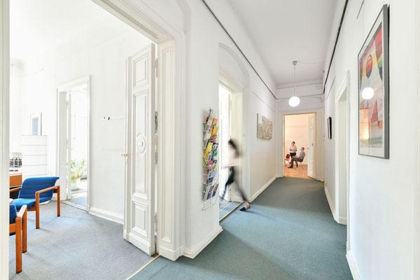 Eingangsbereich unserer Räume im ZIF