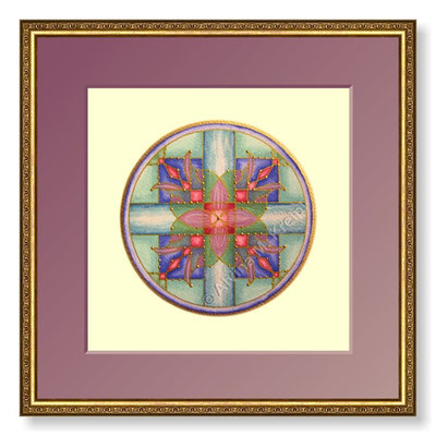 <b>Geburtsmandala</b>  <p>&nbsp;</p>Mandala ø 15 cm, Rahmen 30 x 30 cm mit Passepartout<p>&nbsp;</p><small>Bilderrahmen © dred2010 - Fotolia.com </small>