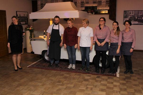 Das Küchen- und Serviceteam haben wieder bestens abgeliefert.