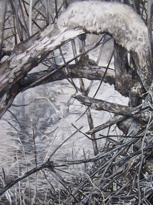 Série berges, huile sur toile 81x116 (détail)